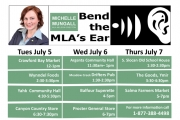 Mungall's Annual Bend the MLA's Ear Tour Begins Tuesday