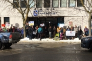 Nelsonites rally at National Day of Action on Electoral Reform