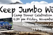 Jumbo Wild Fundraising Camp Dinner November 22