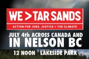 Nelson is going on the Lake to join in  cross-Canada We>Tar Sands action