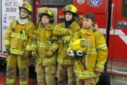 Grade 9 students receive fire training experience from NFD