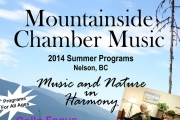 Mountainside Chamber Music 2014 Summer Programs — Music and Nature in Harmony