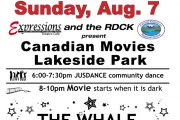 Free Movie Night Sunday at Lakeside Rotary Park — 'The Whale'