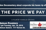 Nelson Council of Canadians showing documentary about corporate tax theft in Canada