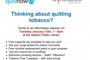 Learn how to quit smoking: free presentation at the Library