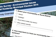 Survey can help determine what municipal candidates think of environment and sustainability