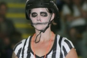 The officiating crew at a Roller Derby meet is a little different than spectators see at most sports.