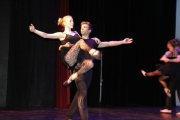 Connor Clover carries his partner during the senior performance.