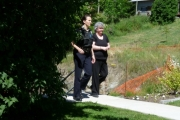 Kimberly Noyes is escorted into Rossland courthouse on the last day of her trial; Photo, Mona Mattei
