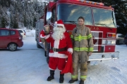 Among the dignitaries at the event was Santa Claus, who said he plans to be back for next year's event.