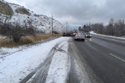 A photograph of the accident scene, courtesy South Okanagan RCMP.