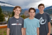From left, Noah Quinn, Kaleb Percival and Joe Davidson as well as (not in photo) Lowie and Tijs Vreys were selected to the U15 BC Cup set for May 11-14 in Penticton. — Submitted photo