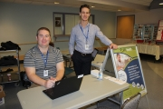 Adam Smith and Drew Dawson, Clinical Informatics Analysts, have been enrolling patients at hospitals throughout Interior Health. — Submitted photo