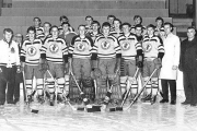 The 1968 Nelson Junior Maple Leafs dominated the opposition throughout the season en route to capturing the Cyclone Taylor Cup. — Photo courtesy Nelson Sports Museum