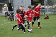 Players from Can Filters battled Fisherman's Market during U8 Boys action Saturday at Lakeside. — The Nelson Daily photo