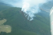 The Brewer Creek fire near Invermere was discovered Monday. — photo courtesy Southeast Fire Centre
