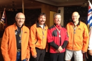 Members of the silver medal winning curling team include: lead, Harry Davidson (Nelson),  second, Russ Beauchamp (Trail),  third, Don Bedard (Christina Lake), and skip, Gary Beaudry (Nelson).  — Submitted photo