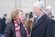 Nelson/Creston MLA Michelle Mungall with federal NDP leader, Jack Layton. — submitted photo