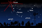 The Perseid meteor shower is expected to put on a major display this week with more than 200 meteors flashing across the sky every minute on Thursday and Friday night.— Based on NASA illustration