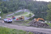 RDCK issued a state of emergency for the area surrounding the HB Mine Dam site near Salmo in in July or 2012 after in response to land instability and saturation of the dam retaining walls. — Photo courtesy TMTV NEWS