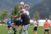 The action was intense as players battled for spots on the Whitecaps FC Kootenay Academy teams. — Sarah Fuhr photo