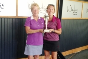 Becky Allen presents Veronica Jones with the Ted Allen's Jewellery trophy. — photo courtesy Granite Pointe at Nelson