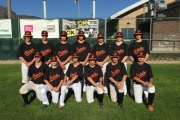 The Trail Orioles include, back row, L-R, Brendan Makay, Austin Tambellini, Tyler Atkinson, Austin Cox, Bradly Ross and Reese Tambellini. Front, Nathan Soukeroff, Ross St. Jean, Casey Harrison, Joel Aubert, Daniel Gagnier and Colton Miracle. Missing, coaching staff of Kyle Mace, Kyle Paulson and Ron Mace. — Submitted photo