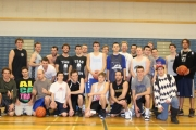 Bomber hoop grads got together for a team photo at the annual LVR Boxing Day Alumni Basketball Tournament. — Bruce Fuhr photo
