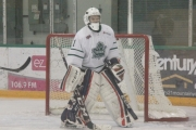 Leafs netminder Joey Karrer faced more than 60 shots this weekend as Nelson dropped a pair of KIJHL games. — The Nelson Daily file photo