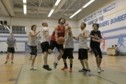 Point guard Florian Joseph cuts through the defence during action at the Blair D'Andrea Memorial Alumni Basketball Tournament on Boxing Day at the LV. Rogers Hangar. — Bruce Fuhr photo