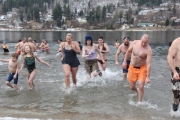 Back by popular demand, the 2015 Polar Bear Dip goes New Year's Day at Lakeside Park beach. — The Nelson Daily file photo