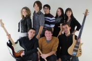 One of the student bands performing on December 12 will be Beat'n'Speak with members: (back row L-R) Thea Loberg, Elijah Larson, James Villa, Charlie Pears-Smith, Laura Landsberg; (front row L-R) Leonard Palerstein, Reg Eddy and Elias Nelson. — Photo courtesy Selkirk College