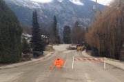 Vancouver Street in Nelson was closed Tuesday due to a broken water main near Slocan Street.