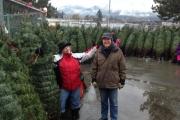 Kris and Ean have a tree for you at the Nelson Rotary Christmas Tree Sale.