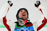 Alex Bilodeau repeated as Olympic moguls champion Monday at Sochi.