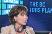 Premier Christy Clark . . .progress on health-care