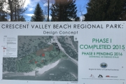 Nearly $875,000 is expected to be spent on Crescent Valley Beach Regional Park over the next 10 years. — The Nelson Daily photo