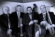The Clinton Swanson Quartet includes, from left, Don Clark – Trumpet, Doug Stephenson – Guitar, Rob Fahie – Bass and Clinton Swanson – Saxophone. — Submitted photo