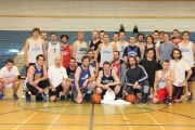 More than 40 former LVR Bomber basketball players were back to have a few laughs and raise money for the Blair D'Andrea Memorial during the holiday break at the Hangar. — The Nelson Daily photo
