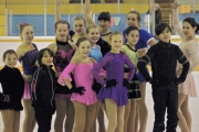 Nelson Figures Skates pose for a quick pic before travelling to Rossland to compete in the West Kootenay Championships. — Submitted photo