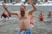 I survived the Kootenay Co-op Radio 2017 Polar Bear Swim, Sunday at Lakeside Park Beach in Nelson. — Bruce Fuhr photos, The Nelson Daily