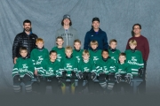 Novice #2 squad (not in any specific order) includes Cooper Anast, Brody Arjun, Linden Berry, Ryder Berry, Kingston Eastwood, Conner Hill, Jasper Marshall, River Marshall, Oscar Masse, Weston McBeath, Olivier McLean, Cooper Morrow, Kieran Mucha, Phoenix Scott, Austin Shrieves and Jaxon Slomba. Coaches Jesse Anast, Justin Masse and Aaron Shrieves.