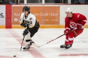 Stefan Gonzales scored as Selkirk dropped a tough loss to SFU. — photo courtesy Selkirk Saints Hockey Club