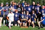 Total Chaos team includes, back row, L-R, Ashley De Leeuw, Justin Niminiken, Jamie Simpson, Travis Dowes, Al Weber, Corey Niminiken, Darren Cain, Kyle Niminiken, Derrick Jackman, Shandy Mowery and Branwen Hainsworth. Front, Lindsey Niminiken, Tammy Jackman, Lua Gerun, Carrie Mowery, Sandy Byers and Nathan Jackman. — Submitted photo