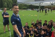 Whitecaps midfielder Marco Bustos was a hit with players at the recent Whitecaps Kootenay Youth Soccer Camp. — Submitted photo