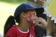 Everyone was getting into the Canada Day spirit Friday at Lakeside Rotary Park thanks to the Chamber of Commerce. — Bruce Fuhr photos, The Nelson Daily