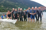 The group includes, from left, in kayak Janice Morrison, Laurilee Commandeur, Graham Jamin, Coleen Driscol, Roger Fontaine, Jessica Larocque, Debbie Bird, Ian Pardoe, Victor Commandeur, Peter Bird and Peter Lee. — Submitted photo
