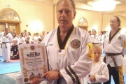 Crescent Valley's Dean Siminoff shows his recent achievement, Sixth Dan Black Belt in Taekwondo. — Submitted photo