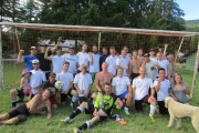 The winning East Shore United squad includes, back row, L-R,Dave, Aaron, Vince, Isaak, Noah, Robby, Jason, Jake, Jesse, Wayne, Tim, Simon, Donny, Francis, Gabe and Donovan. Middle, July, Aaron, Scully, Lewis, Johnny E., Johnny C., Steve, Dan, Ruben and Allissa. Front: Billy, Danno, Johnny C.'s dog. — Submitted photo