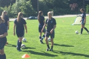 Emma Humphries, Girls Elite REX head coach and Girls Programs director for the Vancouver Whitecaps, is excited to see the improvement of players in the Kootenays. — Submitted photo